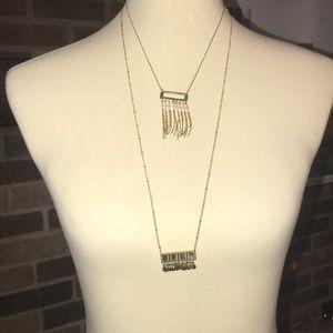 Set of 2 Delicate Plunder necklaces-NIB